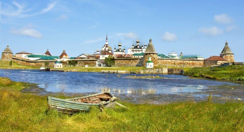 Solovki, монастырь стоковое фото