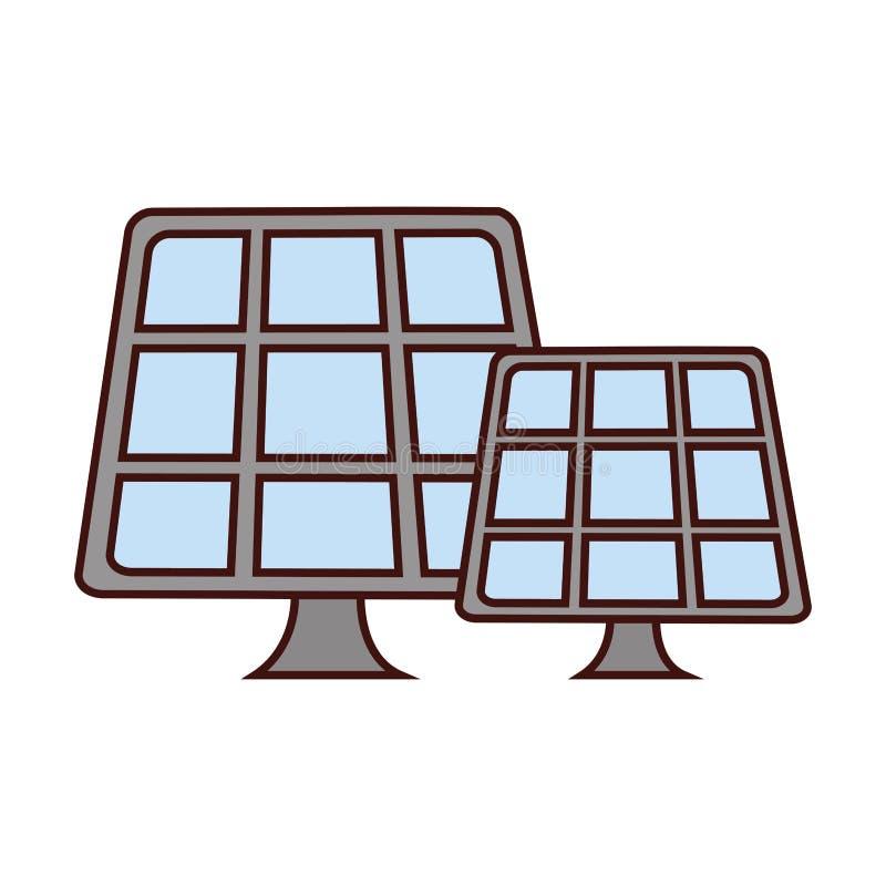 Solpanelsymbolsbild vektor illustrationer