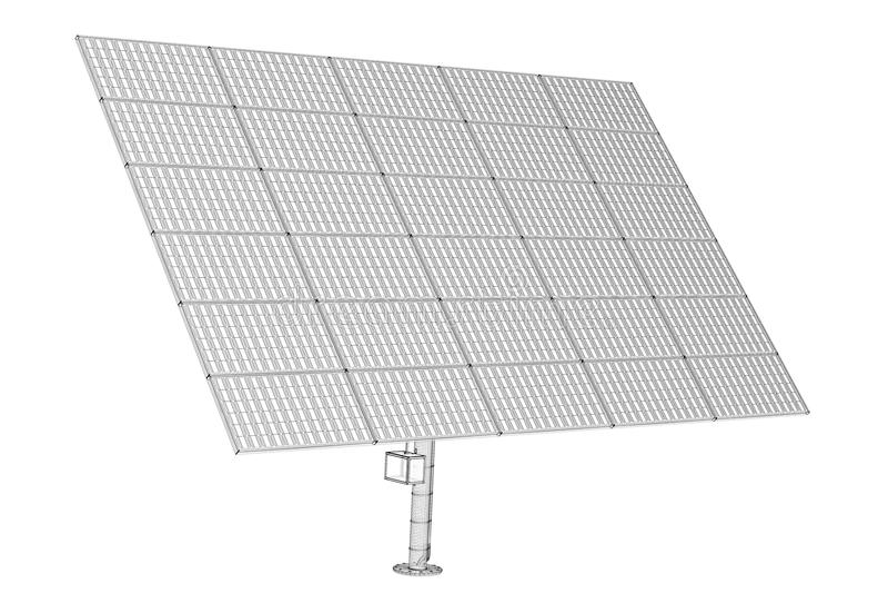 Solpanelteknologi royaltyfria bilder