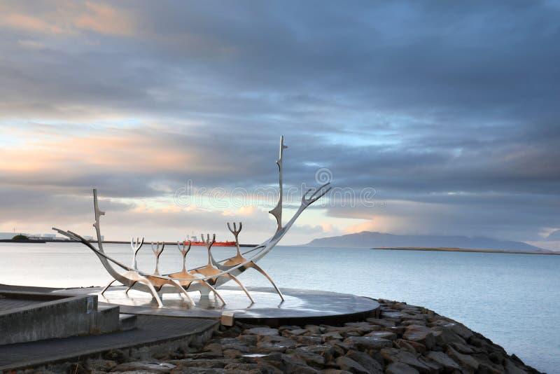 Solresandemonument, gränsmärke av den Reykjavik staden arkivfoto