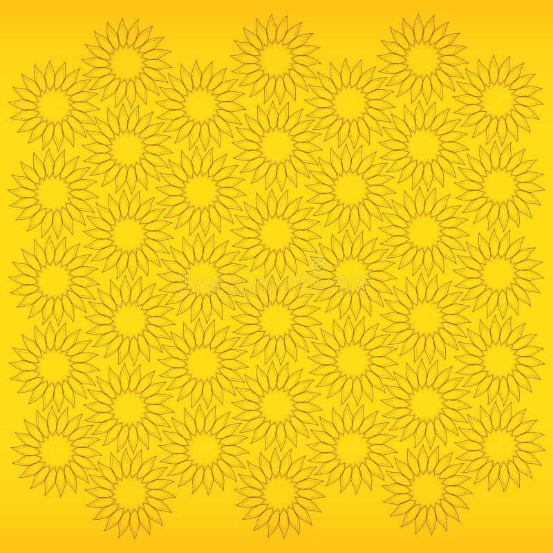 solros royaltyfri illustrationer