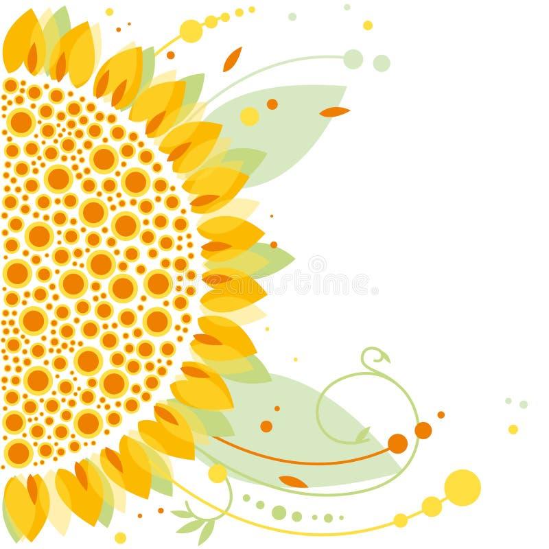 Solros blom- design arkivbilder