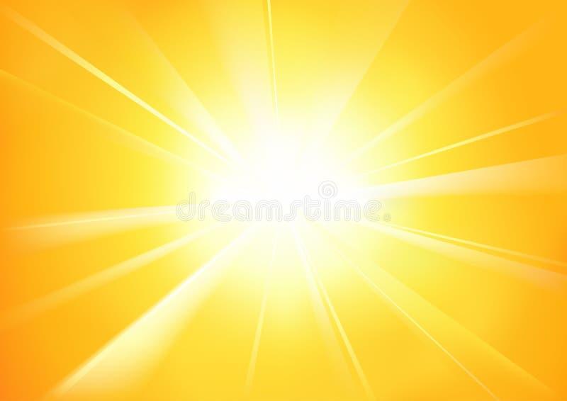 solsken royaltyfri illustrationer