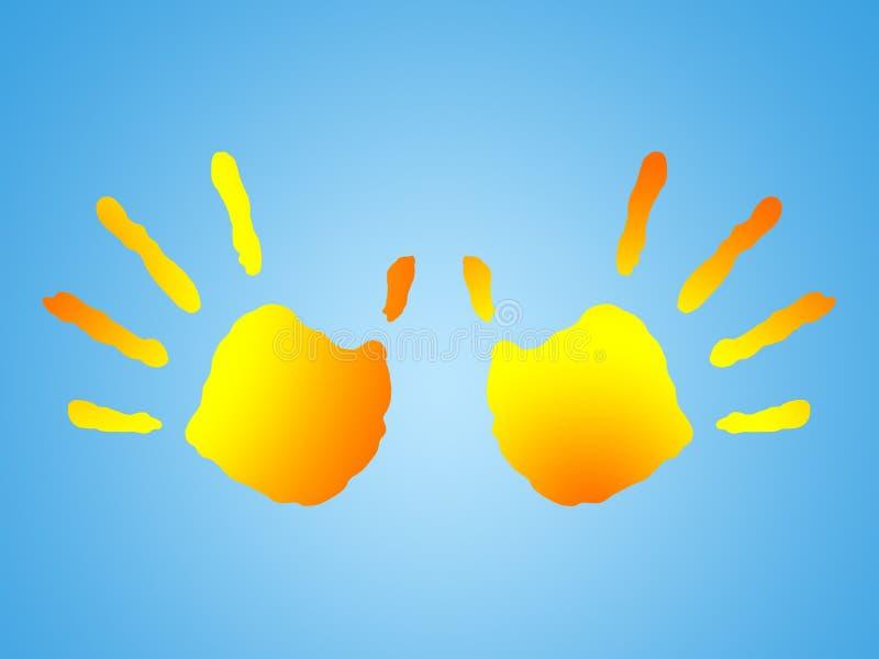Solsken vektor illustrationer