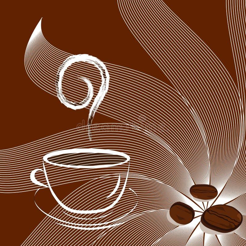 solsken för bönakaffekopp royaltyfri illustrationer