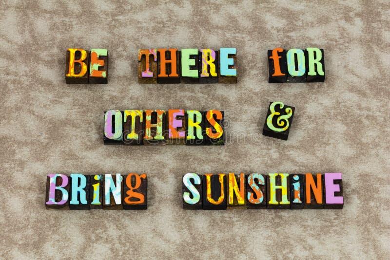 Solsken för bra morgon som hälsar vänner stock illustrationer