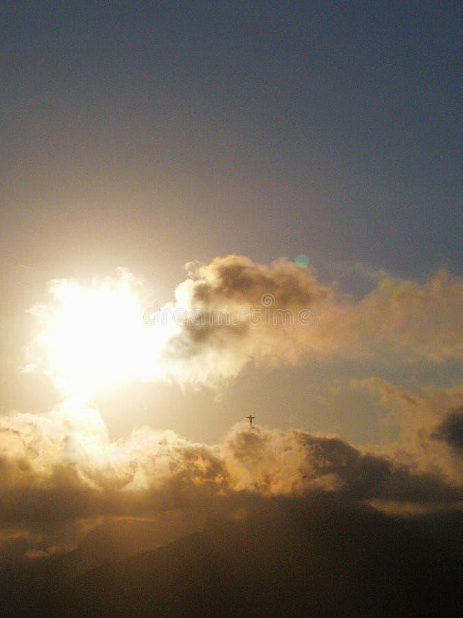Solsken från himmel royaltyfri fotografi