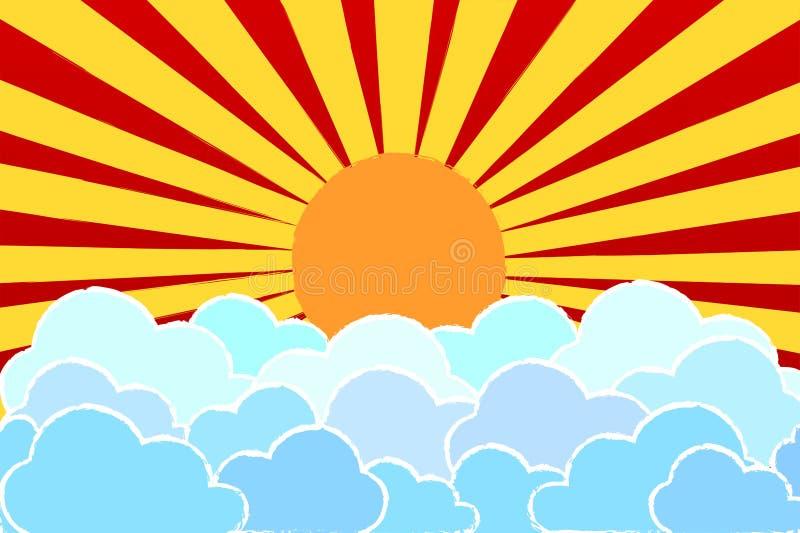 Solsken och molnnatur