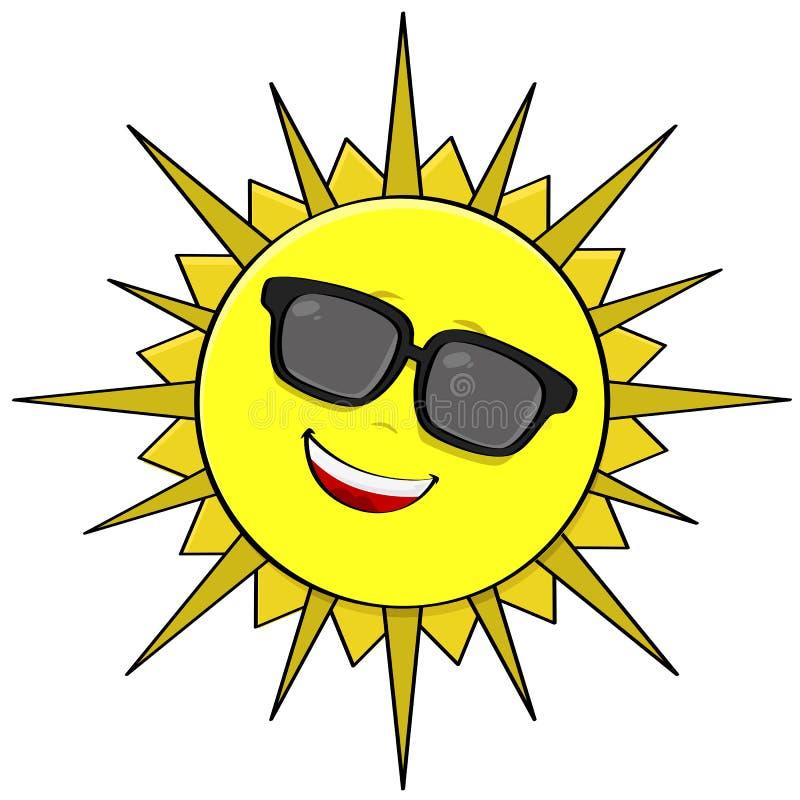 Solskuggor stock illustrationer