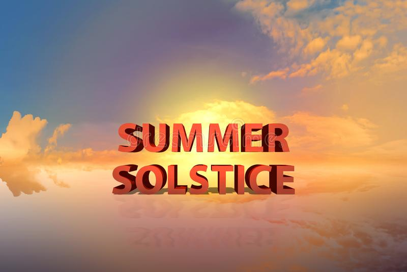 Solstício de verão com por do sol dramático imagem de stock royalty free