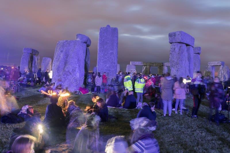Solst?cio em Stonehenge Inglaterra imagem de stock