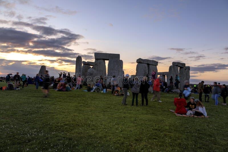Solst?cio de ver?o 2018 de Stonehenge imagens de stock royalty free