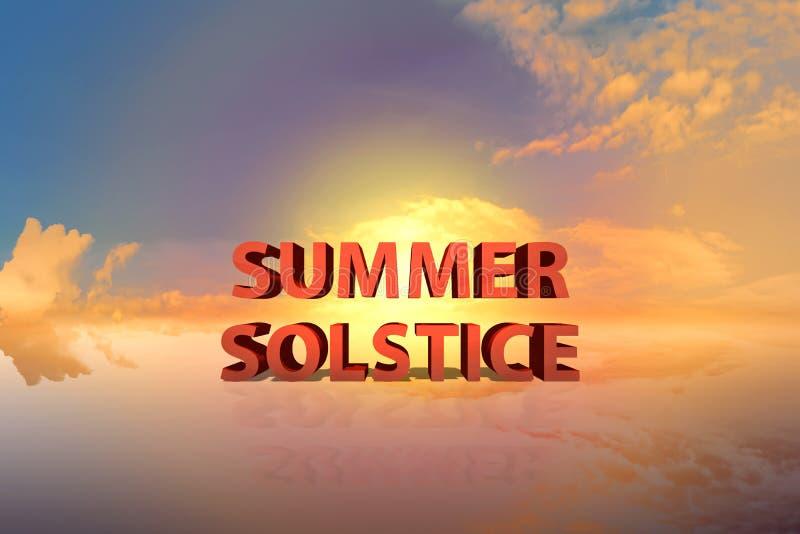 Solstice d'été avec le coucher du soleil dramatique image libre de droits