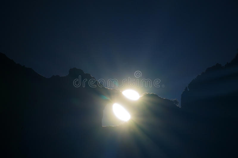 Solstice Mount Forato. On the day of the solstice Mount Forato Apuan Alps Tuscan Italy royalty free stock photography