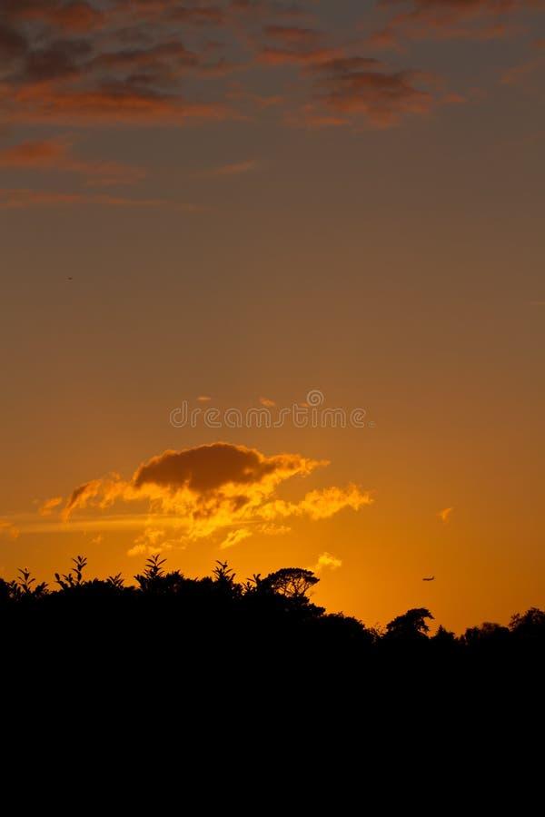 solsticesommarsolnedgång royaltyfria bilder