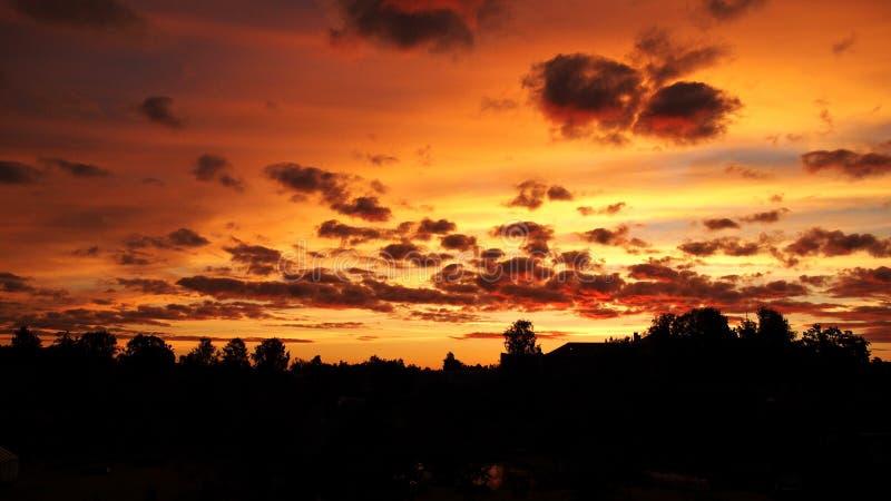 Solsticio de verano de la subida de Sun fotos de archivo