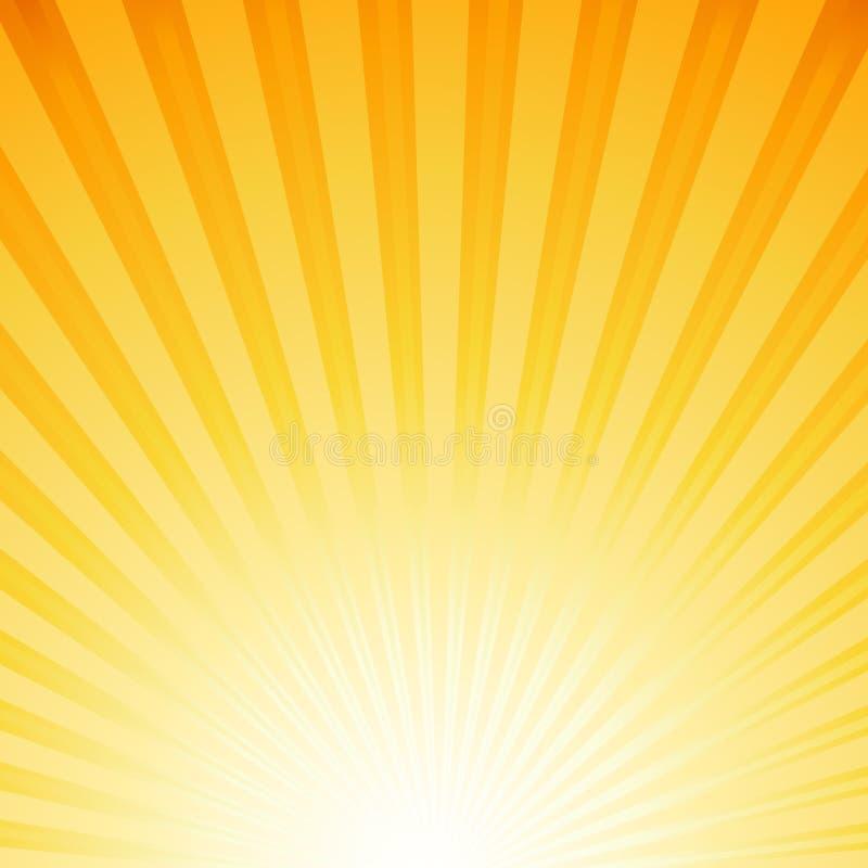 Solstrålar stock illustrationer