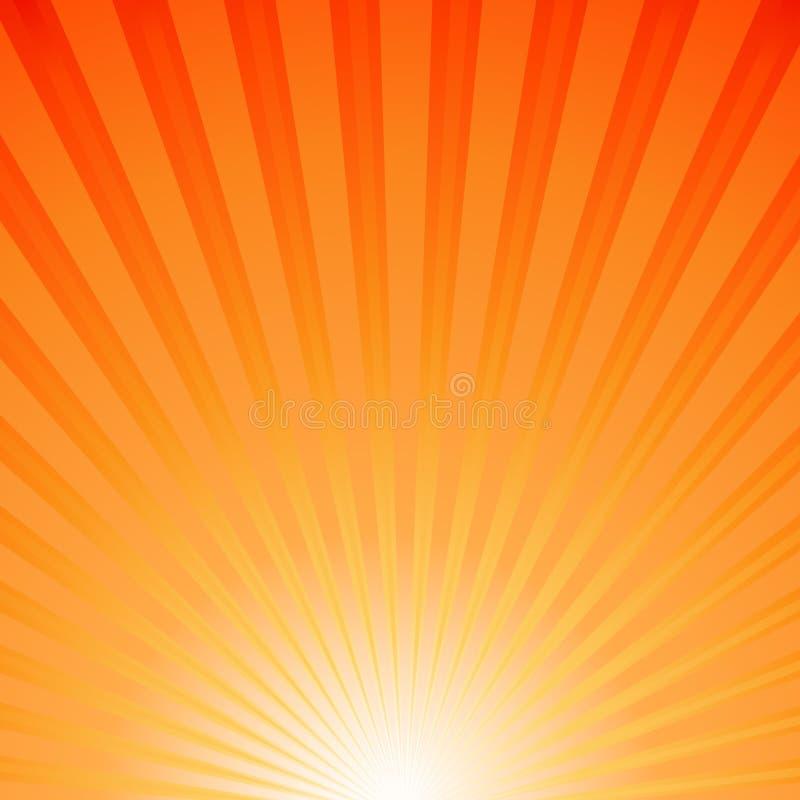Solstrålar vektor illustrationer