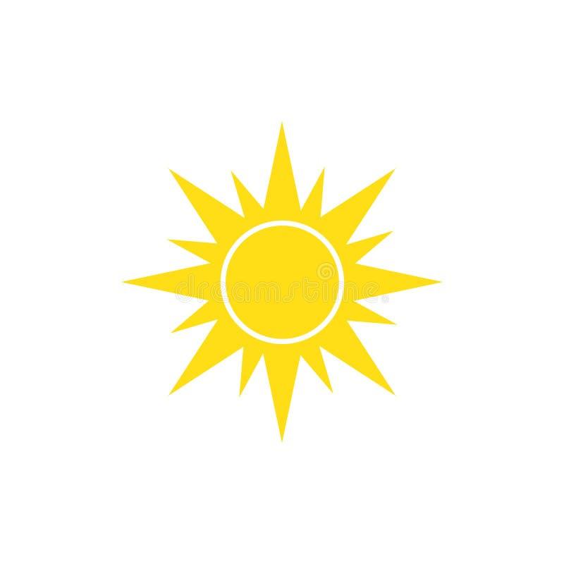 Solsymbol p? vit bakgrund f?r diagrammet och reng?ringsdukdesignen, modernt enkelt vektortecken f?r f?rgbegrepp f?r bakgrund bl?a royaltyfri illustrationer