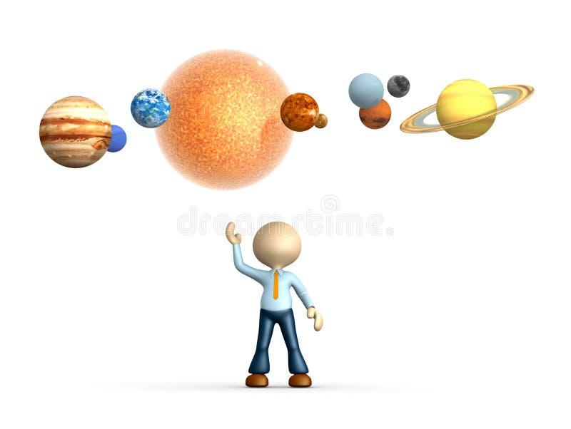 Solsystem royaltyfri illustrationer