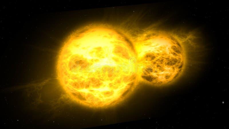 Solsystem för två solar vektor illustrationer