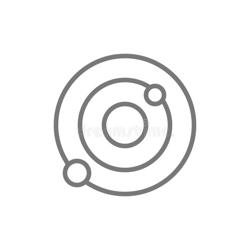 Solsystem galaxlinje symbol stock illustrationer