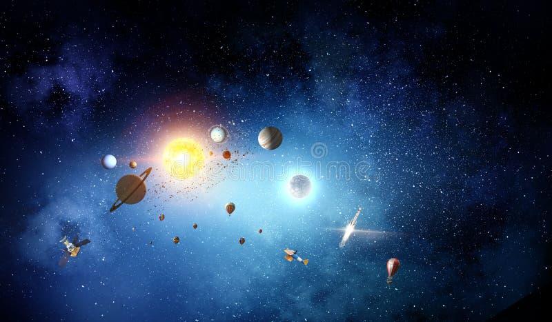 Solsystemplaneter royaltyfria bilder