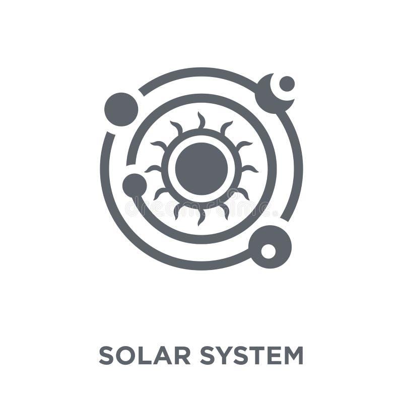 Solsystemsymbol från astronomisamling stock illustrationer