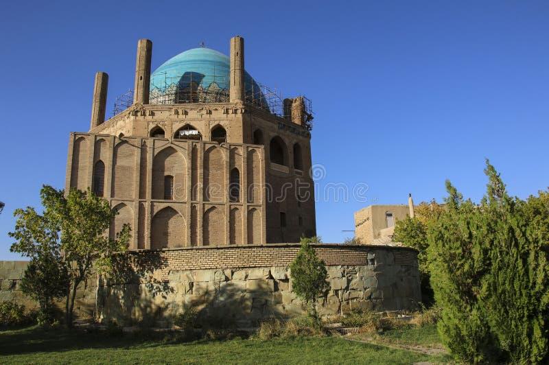 Soltaniyeh圆顶是一个古老陵墓在Zanjan市, Ira附近 库存图片