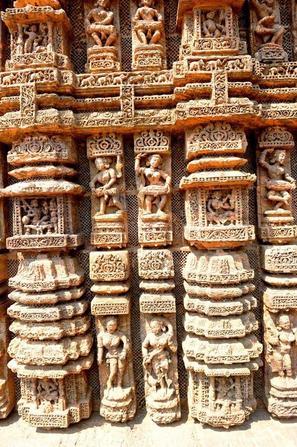 Soltempel nästan Puri, Indien royaltyfria bilder