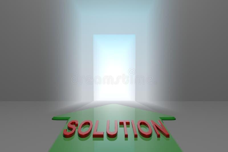 Solução à porta aberta ilustração do vetor