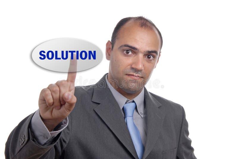 Solução foto de stock