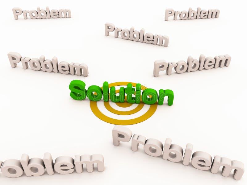 Solução aos problemas ilustração royalty free