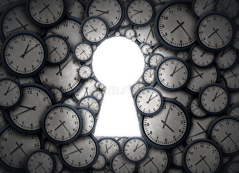 Solução chave do tempo ilustração stock