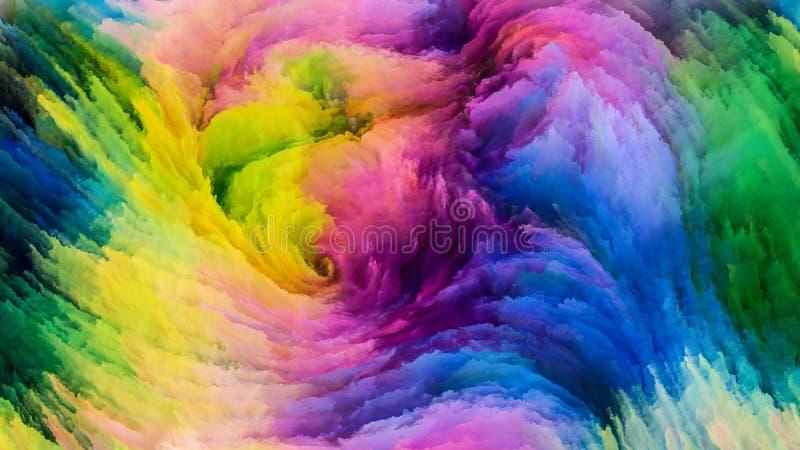 Solução colorida da pintura ilustração do vetor