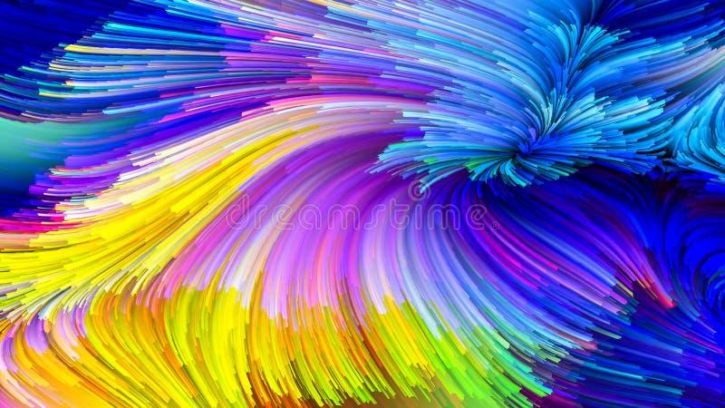 Solução colorida da pintura ilustração stock