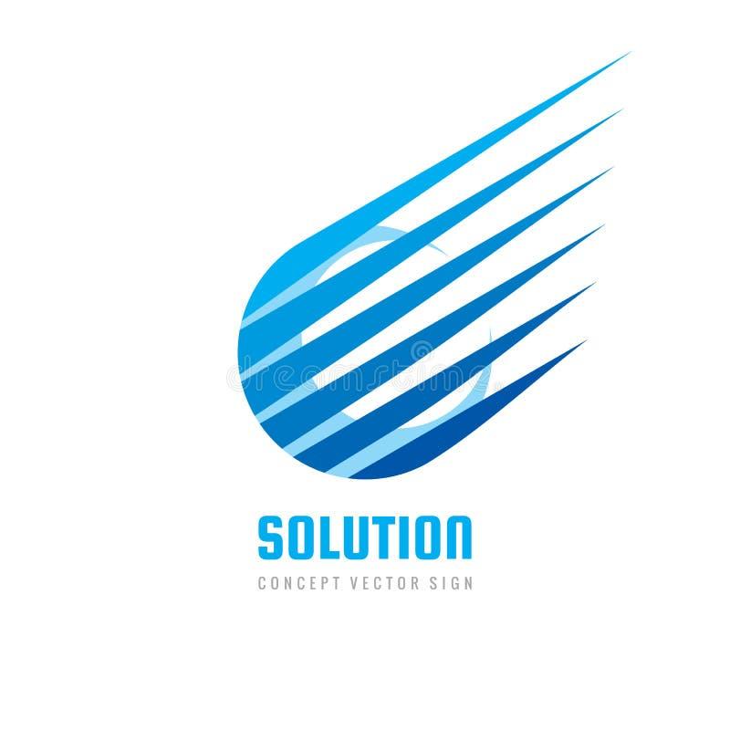 Solução do logotipo - ilustração do vetor do conceito conecte o sinal Símbolo abstrato da tecnologia ilustração stock