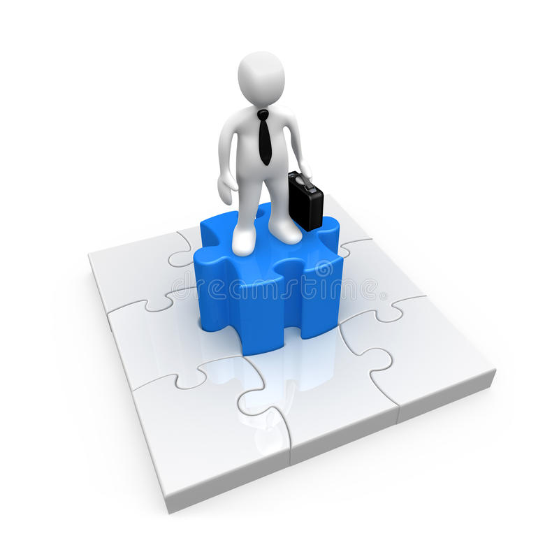 Solução do negócio ilustração do vetor