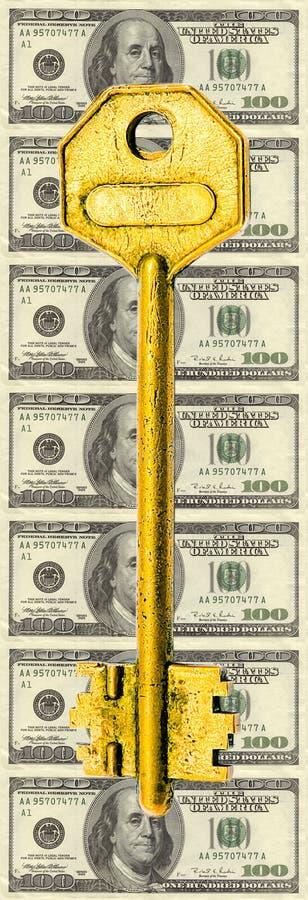 A solução dourada imagens de stock royalty free