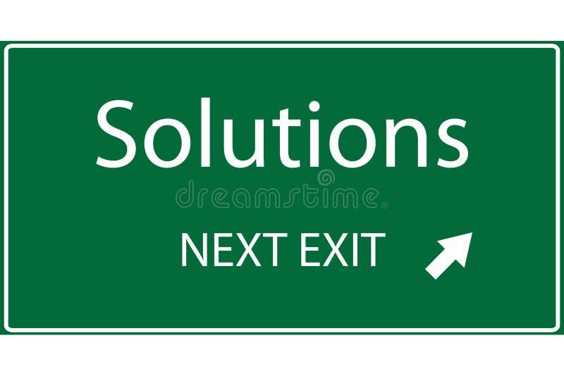 Soluções ilustração stock