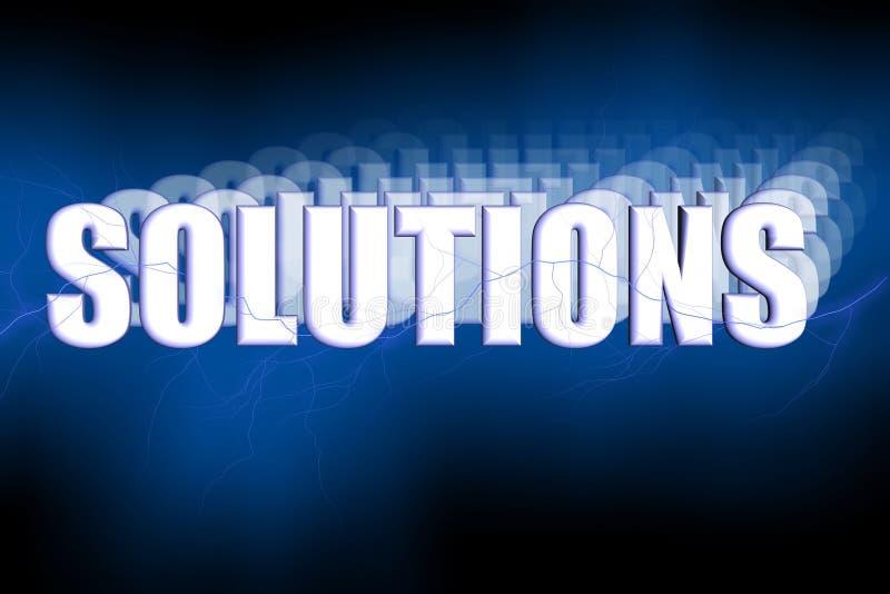 Soluções 3D ilustração stock