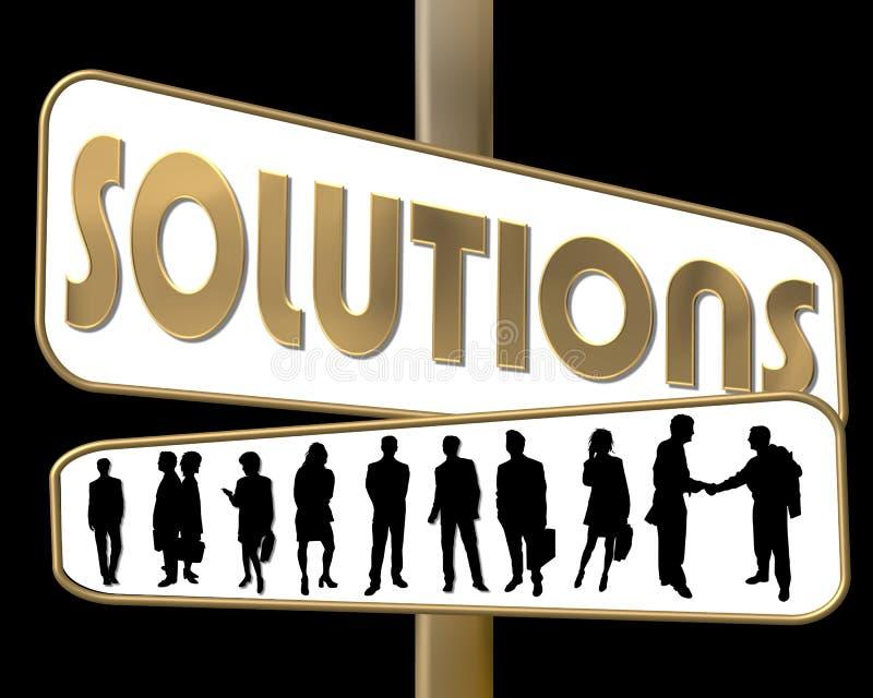 Soluções ilustração do vetor
