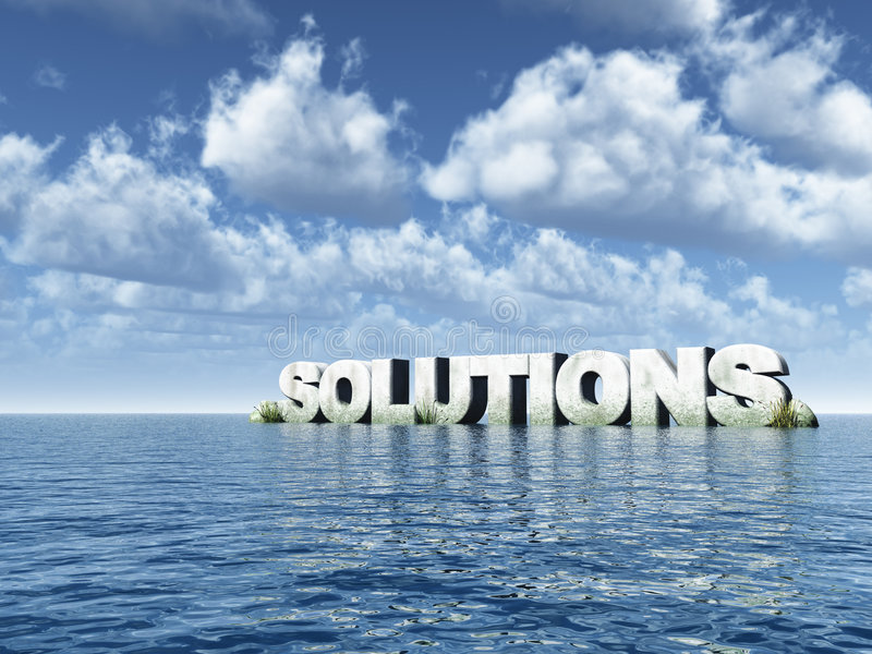 Soluções ilustração royalty free