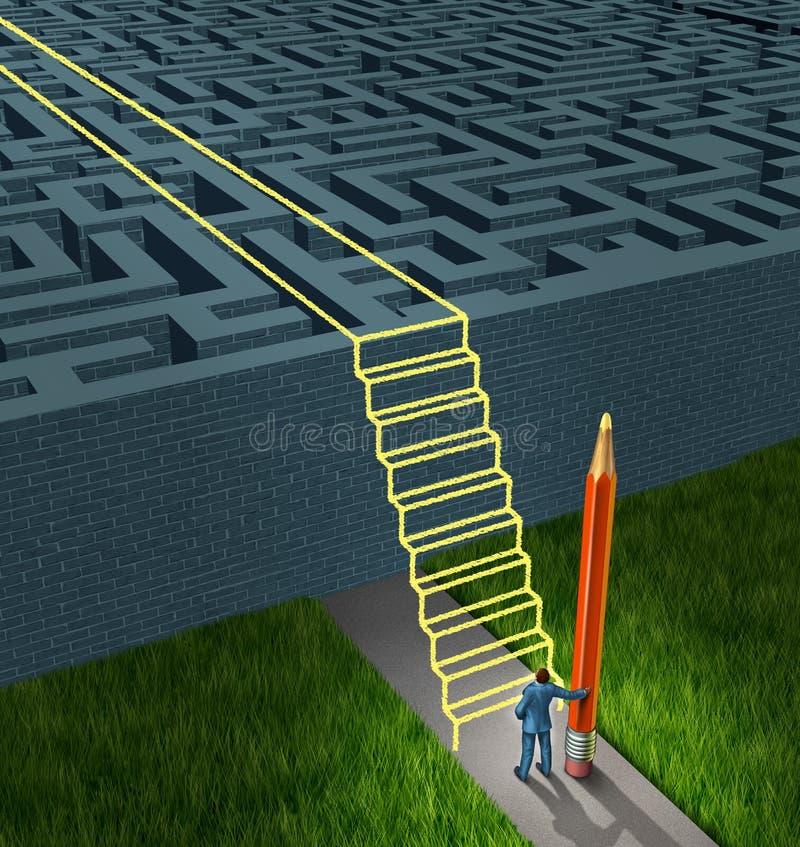 Soluções da estratégia empresarial ilustração royalty free