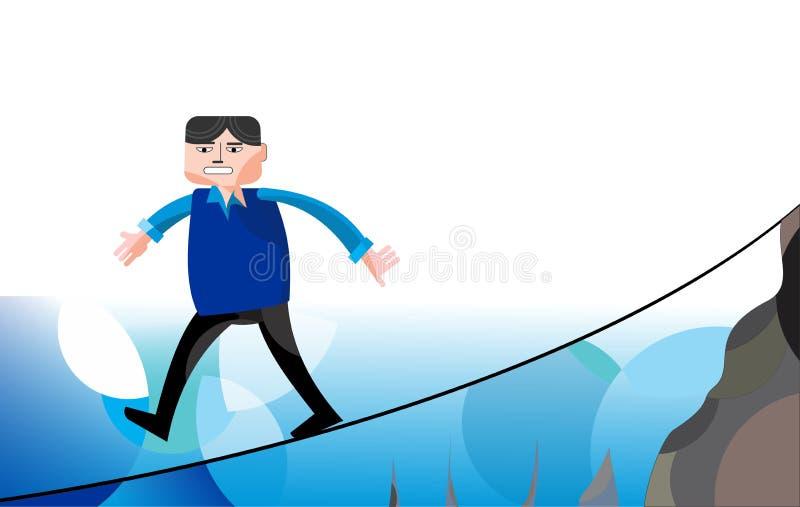 Soluções da gestão de riscos ilustração do vetor