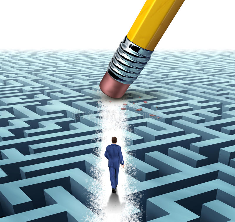 Soluções da liderança ilustração stock