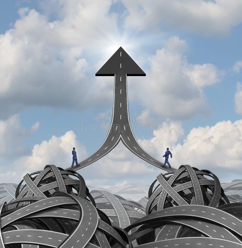 Soluções da parceria ilustração stock