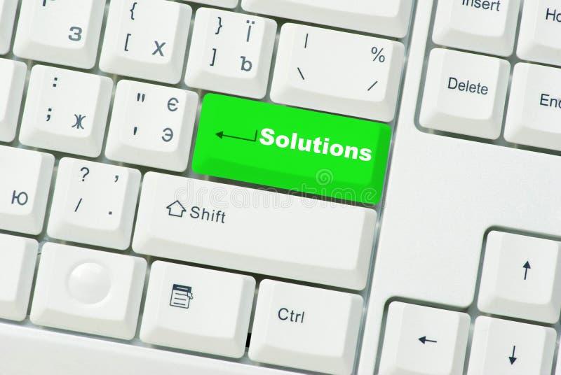 Soluções da tecla imagem de stock royalty free