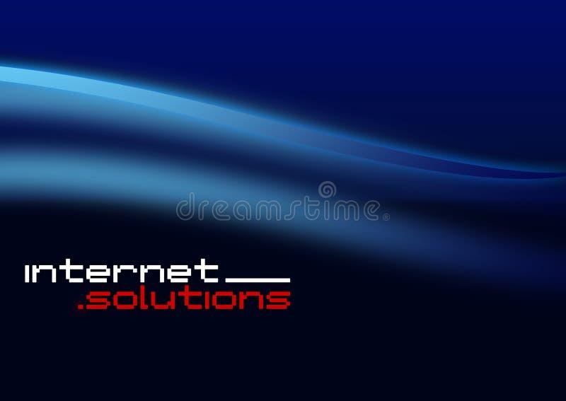 Soluções do Internet ilustração royalty free