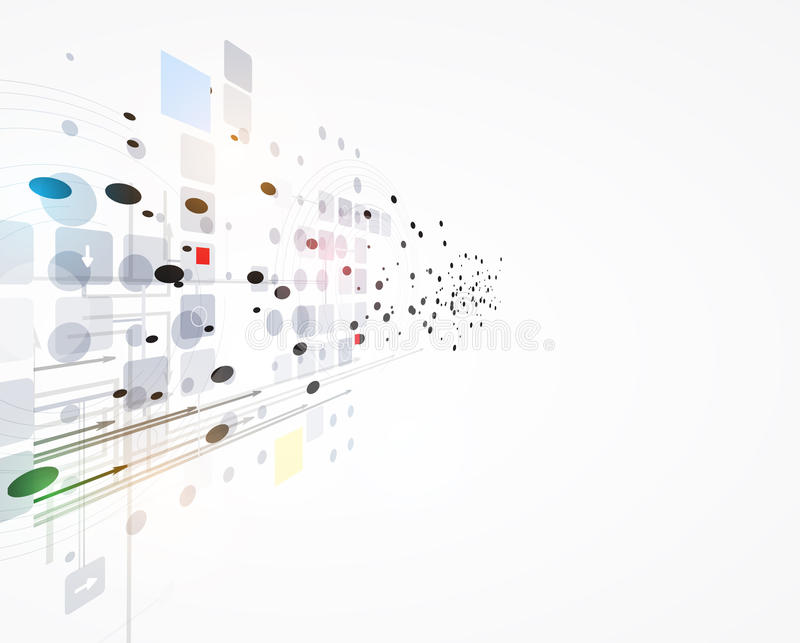 Soluções do negócio do conceito da nova tecnologia do computador do Internet ilustração royalty free